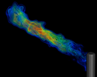 Simulation of an industrial flare - sulfer dioxide